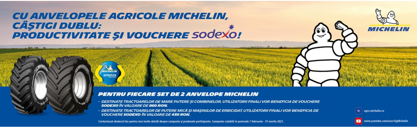 #Campanie anvelope agricole Michelin